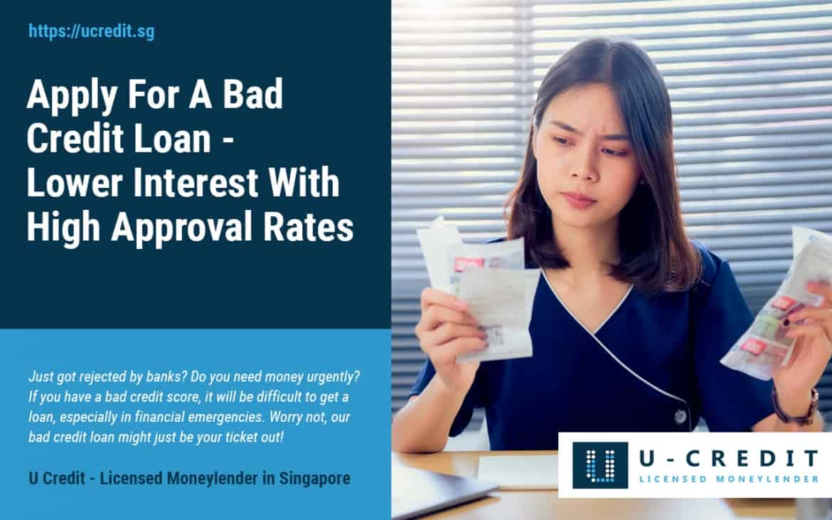 Rejected By Banks But Need Money Urgently? Apply For A Bad Credit Loan With High Approval Rates